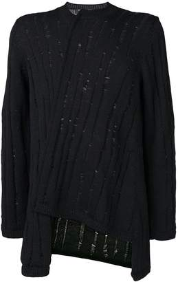 Comme des Garcons distressed knit asymmetric jumper