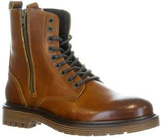 Pajar Rocky Waterproof Faux Shearling-Lined Leather Combat Boots