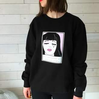Kelly Connor Designs 'Her Gin Glass Was Empty' Pop Art Gin Sweatshirt