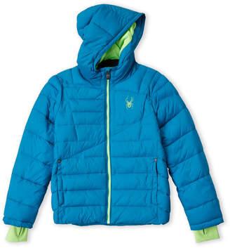 Spyder Boys 8-20) Blue Hooded Puffer Jacket