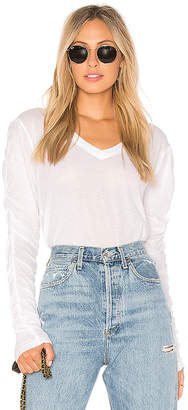 Wilt Shrunken Ruched Long Sleeve Top