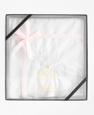 Brooks Brothers Women's Embroidered Handkerchiefs
