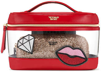 Victoria's Secret Victorias Secret Patch Weekender Train Case