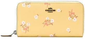 Coach floral accordion zip wallet