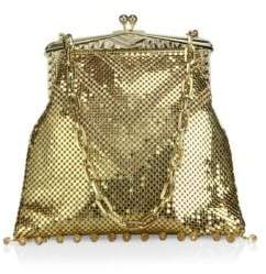 Whiting & Davis Limited Edition Deco Crystal& Mesh Fringe Clutch