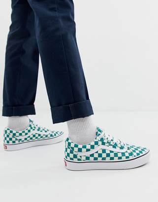 1e7cac73e2 Vans Comfycush Old Skool checkerboard sneakers in green