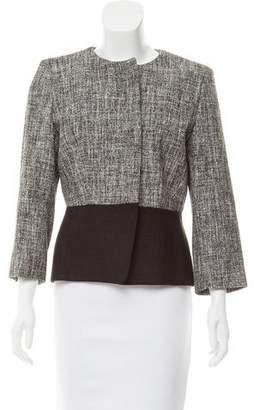 Giambattista Valli Collarless Tweed Jacket