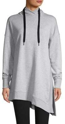 Calvin Klein Asymmetrical-Hem Cotton-Blend Hoodie