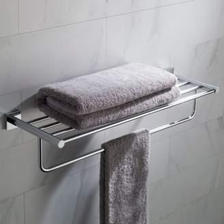 Kraus KRAUS Ventus Bathroom Shelf with Towel Bar, Chrome Finish