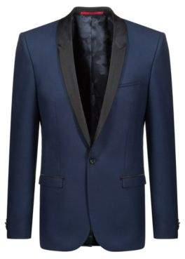 HUGO Boss Extra-slim-fit dinner jacket silk shawl lapels 38R Blue