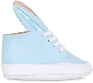 Bunny Nappa Leather Sneakers