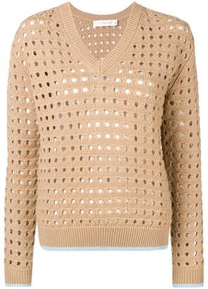 Victoria Beckham cut-out V-neck jumper
