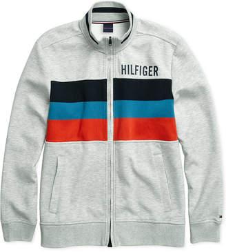 Tommy Hilfiger Adaptive Men Gallen Mock Neck Sweatshirt with Magnetic Zipper