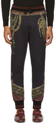Dolce & Gabbana Black Knight Lounge Pants