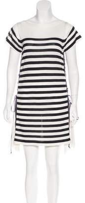 Sacai Striped Knit Dress