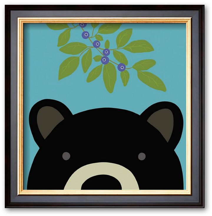 "Art.com Peek-a-Boo Bear"" Framed Art Print by Yuko Lau"