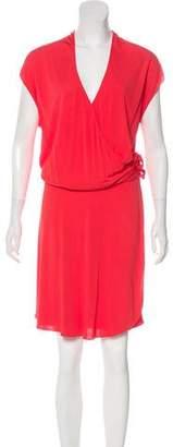 Haute Hippie Short Sleeve Knee-Length Dress