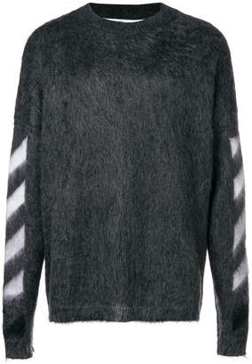 Off-White textured logo sweater