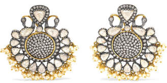 Amrapali 18-karat Gold Diamond And Pearl Earrings - one size