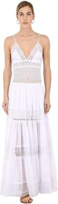 Charo Ruiz Ibiza Broderie Cotton Voile Long Dress
