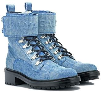 Balmain Denim ankle boots