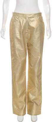DKNY Metallic Mid-Rise Wide-Leg Jeans w/ Tags