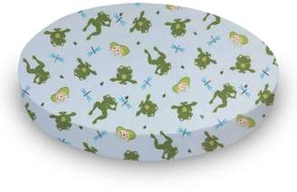 Stokke SheetWorld Fitted Oval Mini) - Frogs n Pods - Made In USA - 58.4 cm x 73.7 cm ( 23 inches x 29 inches)