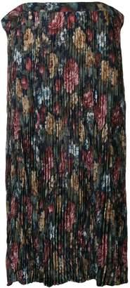 Junya Watanabe floral crepe long skirt