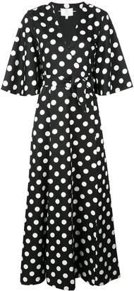 Rebecca De Ravenel polka dot wrap dress