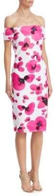 Chiara Boni Floral Off-The-Shoulder Dress