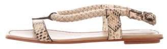 Santoni Snakeskin Rope Sandals w/ Tags