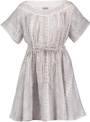 Thierry Colson Tania Tie-Waist Linen Mini dress