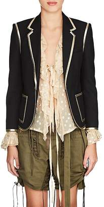 Saint Laurent Women's Wool One-Button Blazer