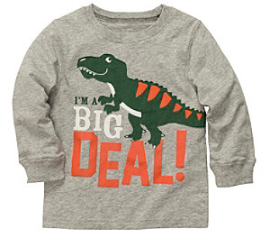 Carter's Baby Boys' Grey Long Sleeve Big Deal Tee