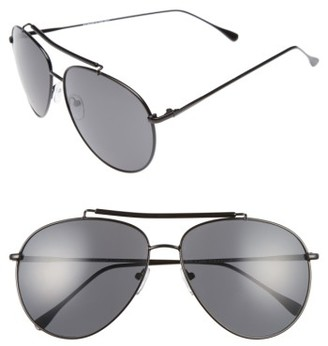 Women's A.j. Morgan Skyward 61Mm Aviator Sunglasses - Black $24 thestylecure.com