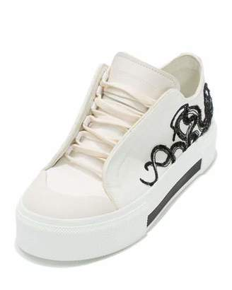Alexander McQueen Octopus Embroidered Low-Top Sneaker, White $695 thestylecure.com