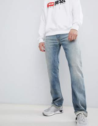 Diesel Larkee straight fit distressed jeans in 084UK