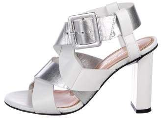 Robert Clergerie Leather Caged Sandals