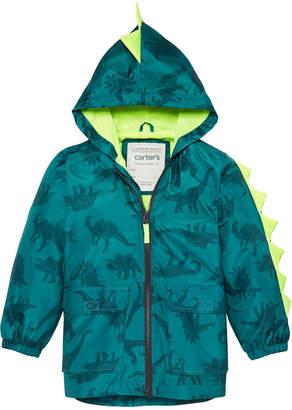 5e99b494d Carter's Carter Toddler & Little Boys Hooded Dinosaur-Print Rain Jacket