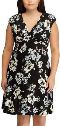 Chaps Plus Size Floral Empire Dress