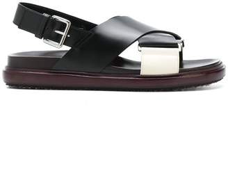 Marni criss-cross Fussbett sandals