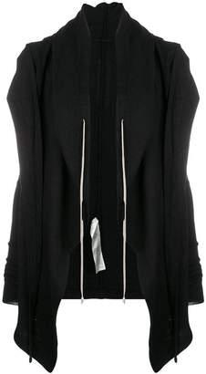 Rick Owens waterfall zipped hoodie