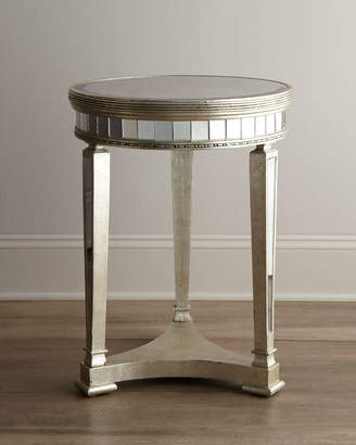 Horchow Amelie Mirrored Lamp Table
