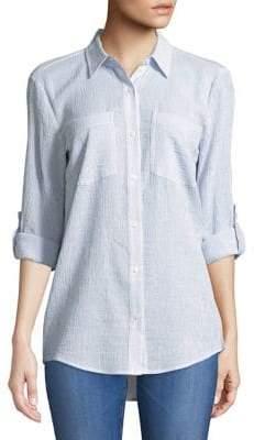MICHAEL Michael Kors Pinstripe Button-Down Shirt