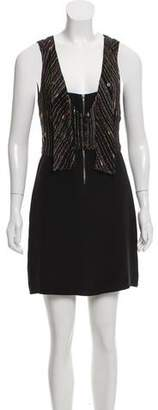 Mayle Silk Embroidered Dress