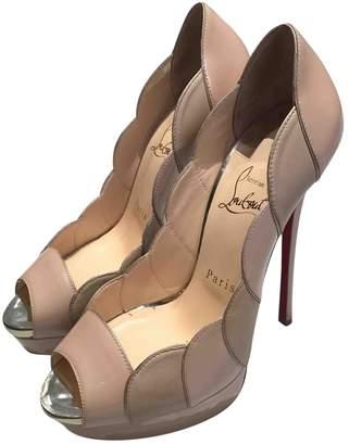 Christian Louboutin Lady Peep Patent Leather Heels