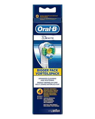 Oral-B Oral B 4 Pack 3D White Tootbrush Heads