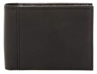 Bosca Small Bifold Leather Wallet with ID