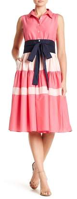 TOV Colorblock Stripe A-Line Dress