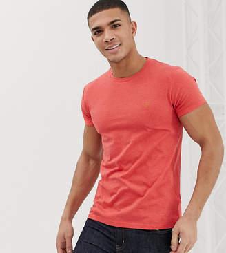 Farah Gloor slim fit marl t-shirt in coral Exclusive at ASOS